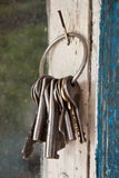 Bunch of old keys Stock Photos