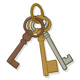Bunch of old keys Stock Photography