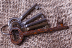 Bunch of old keys Stock Images