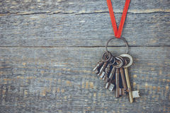 A bunch of old keys Stock Photography