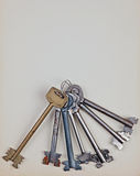 Bunch of Old Keys Royalty Free Stock Photos