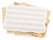 Bunch of old note papers Stock Photography