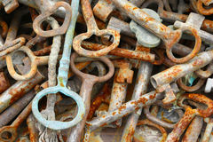 Bunch of old rusty keys Royalty Free Stock Photography