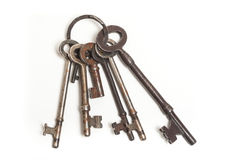 Bunch of old skeleton keys Stock Photography