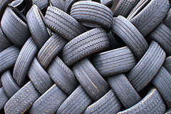 Bunch of Old Tires Royalty Free Stock Images