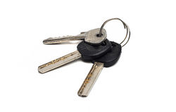 A bunch of old, worn keys Royalty Free Stock Images