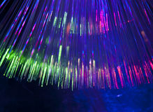 Bunch of optical fibres Royalty Free Stock Photography