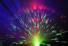 Bunch of optical fibres Royalty Free Stock Photo
