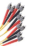 A bunch of optical patch cords Stock Photos