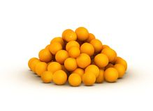 Bunch of orange citrus. Bunch of piled up orange citrus stock illustration