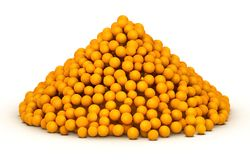 Bunch of orange citrus. Huge bunch of piled up orange citrus vector illustration