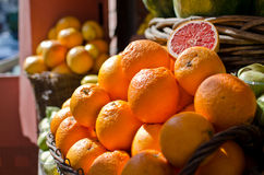 Bunch of oranges. Close-up picture of a bunch of oranges stock photo