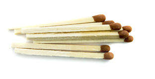 Bunch of ordinary matches on a white background isolated Royalty Free Stock Photos