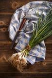 Bunch of organic fresh garlic Royalty Free Stock Photography