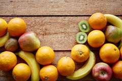 Bunch of organic fruits royalty free stock images