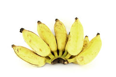 Bunch of over ripe bananas. On white background Royalty Free Stock Photos