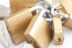 Bunch of padlocks Stock Photo