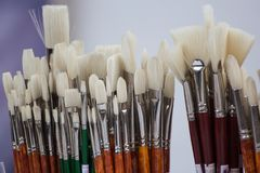 Bunch of painting brushes Royalty Free Stock Images