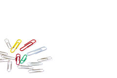 Bunch of paper clips isolated on white background Stock Photography