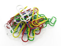 Bunch of paper clips Stock Photography