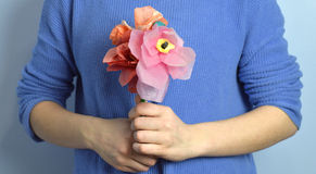 Bunch of Paper Flowers Stock Photos