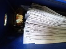 Bunch of papers filed in arch filed royalty free stock image