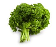 Bunch of a parsley isolated Stock Photos