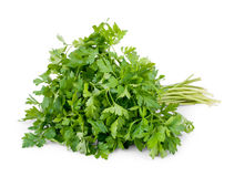 Bunch of parsley isolated on white Stock Photos