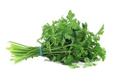 Bunch of parsley on a white. stock image