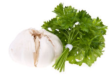 Bunch of parsly with garlic Stock Photo