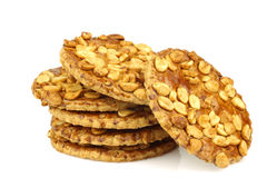 Bunch of peanut cookies Royalty Free Stock Photography