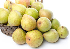 Bunch of pears in a basket Royalty Free Stock Photo