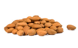 Bunch of peeled almonds Stock Photos