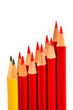 A bunch of pencil isolated on white Stock Images