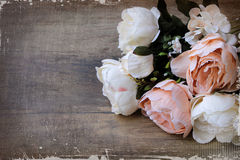 Bunch of Peony flowers Stock Photo