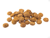 Bunch of Pepernoten cookies seen from side Royalty Free Stock Photo