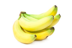 Bunch of perfectly looking bananas. Isolated on white background Stock Photo