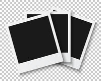 Bunch of Photo Frames  on PS Style Background. Photoreal Royalty Free Stock Image