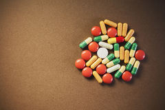 Bunch of Pills And Tablets Stock Photography