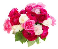 Bunch of pink ranunculus flowers Royalty Free Stock Photography