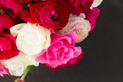 Bunch of pink ranunculus flowers Stock Photo