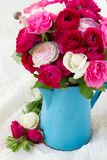 Bunch of pink ranunculus flowers Royalty Free Stock Photos
