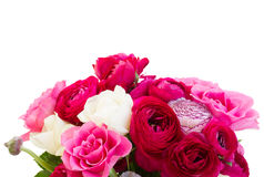 Bunch of pink ranunculus flowers Stock Image