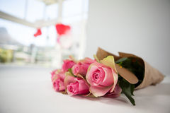 Bunch of pink roses Stock Photos