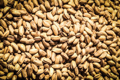 A bunch of pistachios stock image