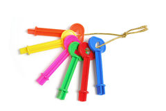 Bunch of Plastic Keys Stock Photography