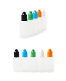 Bunch of plastic 30 ml bottles Royalty Free Stock Photography