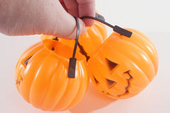 A Bunch of Plastic Pumpkins Stock Image
