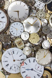 Bunch of pocket watch clockworks Royalty Free Stock Photo