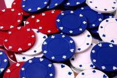 Bunch of Poker Chips Stock Photos